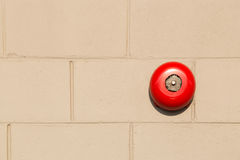 Alarms red wall. Fire alarm in the building For safety stock image