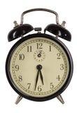 Alarmuhr getrennt auf Weiß Lizenzfreies Stockfoto