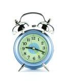 Alarmuhr getrennt auf Weiß. Stockbild