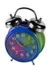 Alarmuhr getrennt mit Ausschnittspfad stockbilder