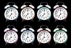 Alarmuhren der alten Art Stockfotos