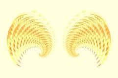 Alas 2 de la hada o del pájaro del ángel ilustración del vector