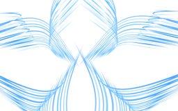 Alas azules abstractas Stock de ilustración
