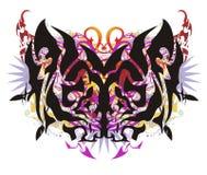 Alas coloridas tribales de la mariposa del Grunge Foto de archivo libre de regalías