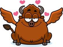 Alas de búfalo de la historieta en amor Fotos de archivo