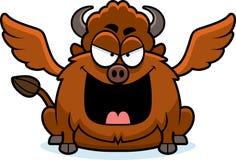 Alas de búfalo malvadas de la historieta Imagen de archivo libre de regalías