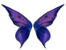 Alas de hadas emplumadas púrpura ilustración del vector