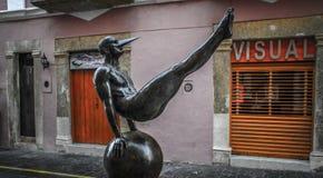 Alas de la ciudad de Jorge MarÃn, objeto expuesto de escultura en las calles de Campeche, Campeche, México Fotografía de archivo