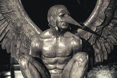 Alas de la ciudad de Jorge MarÃn, objeto expuesto de escultura en las calles de Campeche, Campeche, México Fotos de archivo