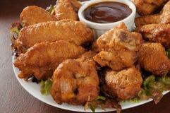 Alas de pollo Foto de archivo libre de regalías