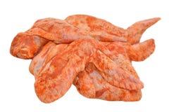 Alas de pollo adobadas Imagen de archivo