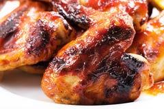 Alas de pollo asadas Imagen de archivo