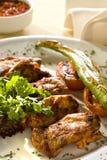 Alas de pollo asadas a la parilla Imagen de archivo