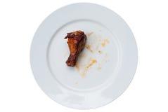 Alas de pollo asadas a la parrilla Imágenes de archivo libres de regalías