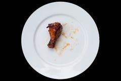 Alas de pollo asadas a la parrilla Fotografía de archivo libre de regalías