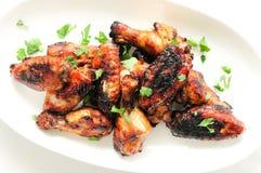 Alas de pollo asiáticas del estilo Imagen de archivo libre de regalías