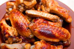 Alas de pollo calientes y picantes del estilo del búfalo Fotografía de archivo libre de regalías