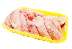 Alas de pollo congeladas Imagen de archivo libre de regalías