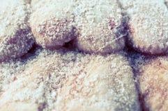 Alas de pollo congeladas Imagenes de archivo