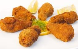 Alas de pollo curruscantes Imagen de archivo