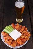 Alas de pollo del búfalo Foto de archivo libre de regalías
