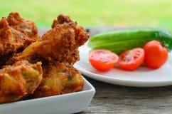 Alas de pollo frito Foto de archivo