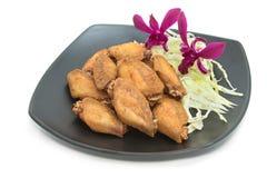 Alas de pollo frito Fotografía de archivo libre de regalías