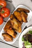 Alas de pollo picantes Imagen de archivo libre de regalías