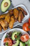 Alas de pollo picantes Fotografía de archivo