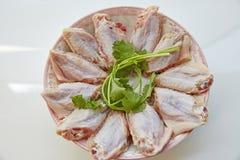 Alas de pollo picantes Fotos de archivo libres de regalías