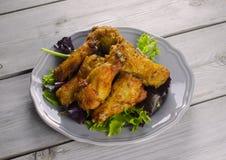 Alas de pollo picantes Fotos de archivo