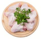 Alas de pollo sin procesar Fotografía de archivo libre de regalías