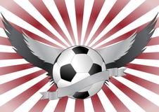 Alas de Soccerball Imagen de archivo libre de regalías