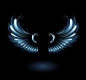 Alas del ángel que brillan intensamente Fotografía de archivo