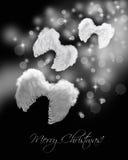 Alas del ángel que vuelan en rastro del stardust Imagen de archivo libre de regalías