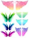 Alas del arco iris stock de ilustración