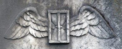Alas del ángel del cielo Foto de archivo