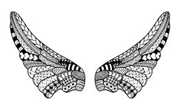 Alas del ángel, ejemplo altamente detallado adentro Foto de archivo