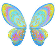 Alas hermosas de una mariposa azul Fotografía de archivo libre de regalías