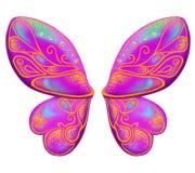 Alas hermosas de una mariposa Color de rosa Imagen de archivo