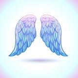 Alas hermosas del ángel de la historieta ilustración del vector