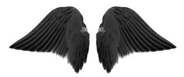 Alas negras del ángel foto de archivo libre de regalías