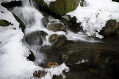 Alasak Spring Creek. Snow melts away to reveal a small creek as spring time approaches Stock Photography