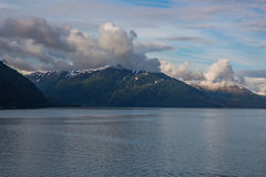 Alaska's冰河海湾风景山景 库存图片