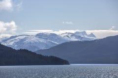 Alaska śnieg zakrywać góry fotografia stock