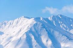 Alaska, śnieg zakrywał górę Obrazy Royalty Free