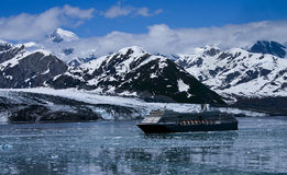 Alaska. View of a cruise ship in Yakutat bay Alaska stock image