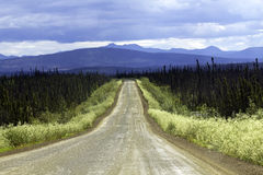 Alaska. Road from Faibanks to Cold Foot in Alaska royalty free stock images
