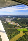 Alaska Aerial View of Soldotna On The Kenai Peninsula Stock Photo