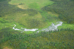 alaska aerial view Stock Photography